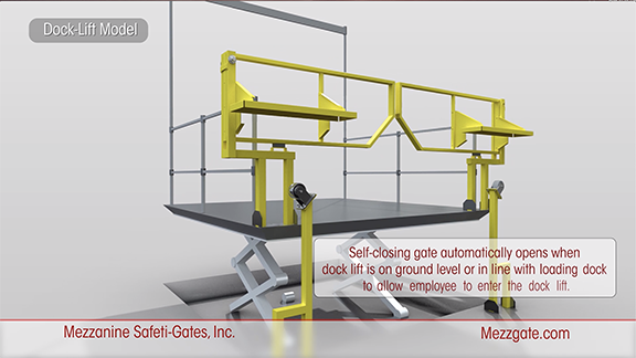 Dock Lift Safety Gate
