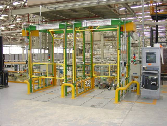 Power operated safety gate for industry