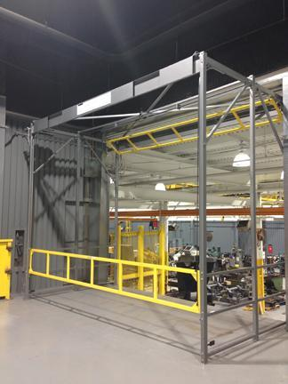 The original Roly safety gate provides fall protection on production platforms