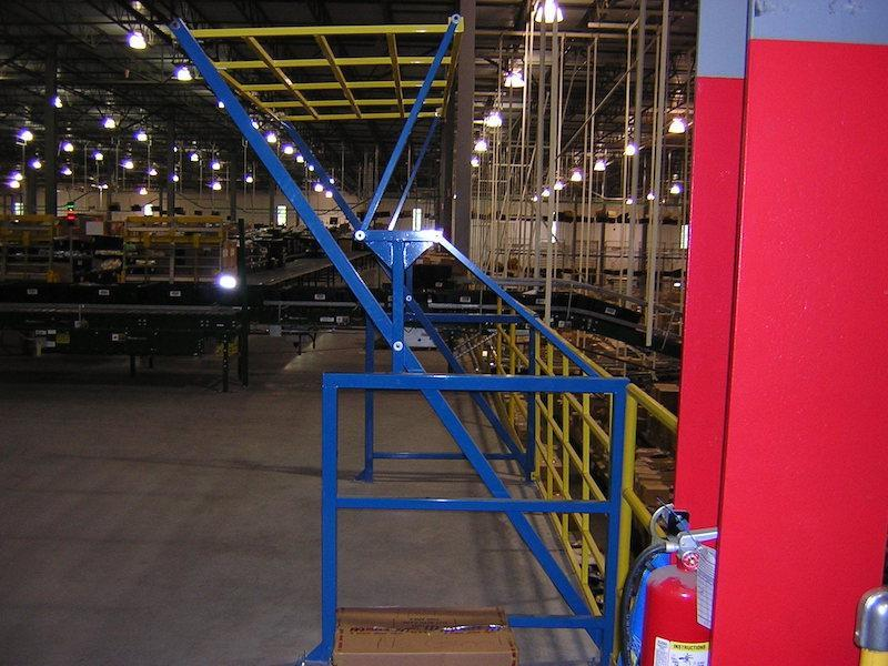 High Pallet Pivot Safety Gate for Fall Protection