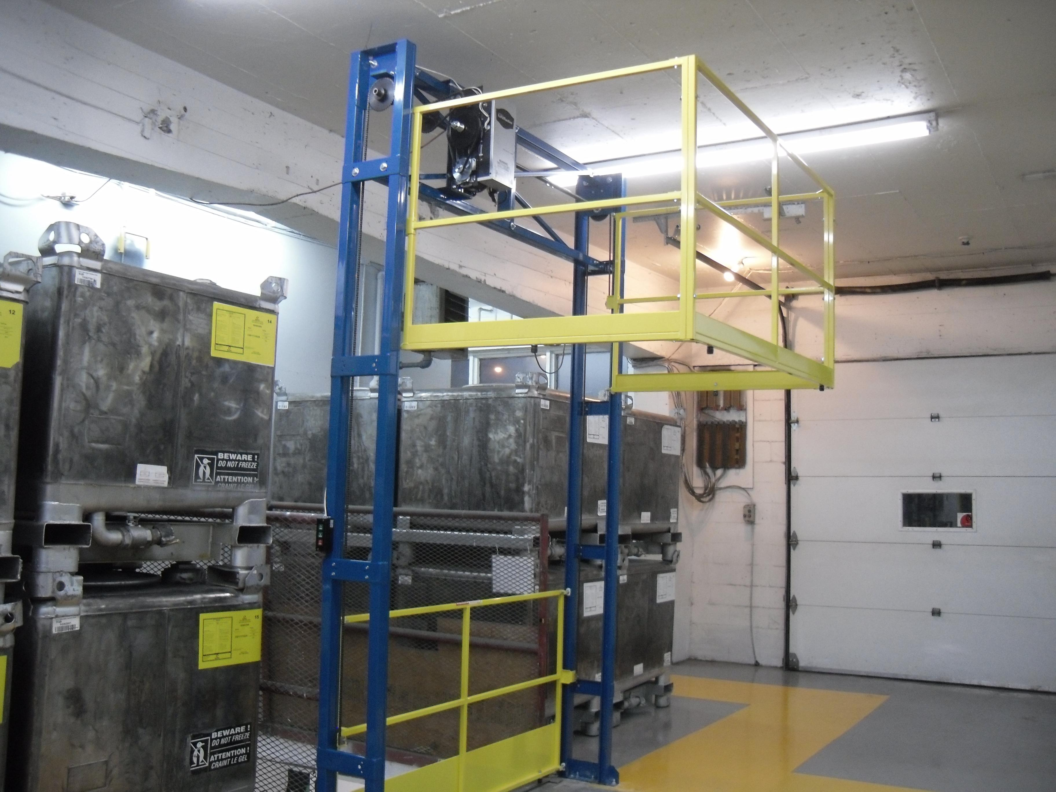 Power operated Tri-Side mezzanine safety gate