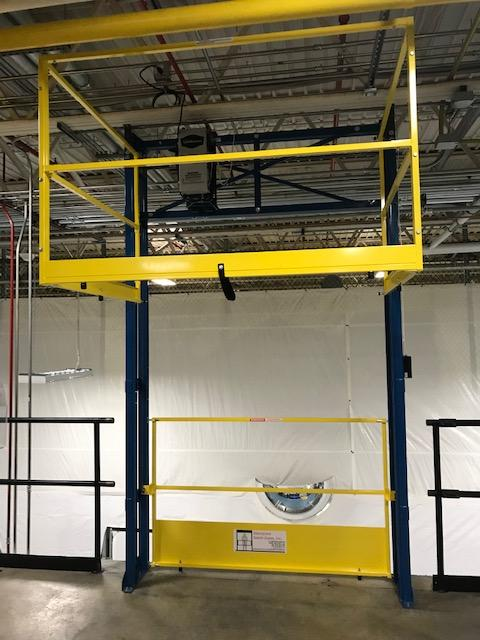 Power Operated Tri Side Mezzanine Safety Gate