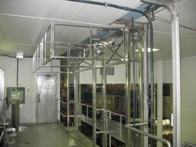 Industrial stainless steel safety gate