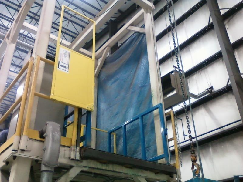 Safety gate for handling with overhead hoist
