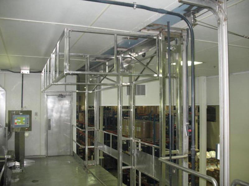 Stainless Steel Tri-Side Mezzanine Safety Gate