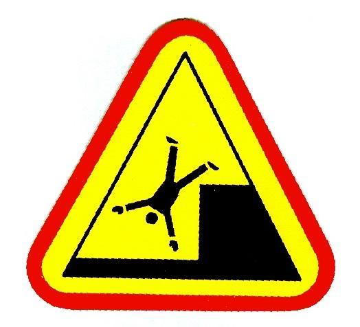 person falling sign